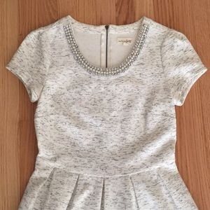 Heather gray bejeweled dress